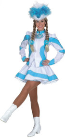 Ladies Deluxe Baby Blue Carnival Fancy Dress Costume