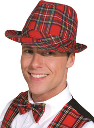 Adults Tartan Trilby Hat Accessorie