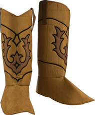 Adult Brown Cowboy Boot Toppers