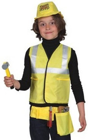 Childrens 6 piece Workman Fancy Dress Costume