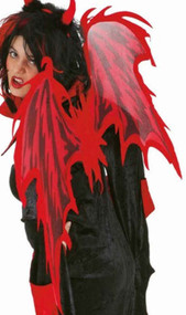 Adults Red Flame Devil Wings