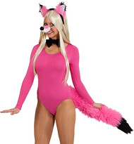Adults Pink Fox Fancy Dress Accessory Kit