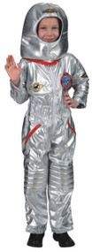 Childs Silver Astronaut Fancy Dress Costume