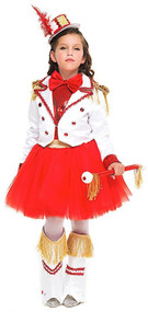 Girls Premium Majorette Fancy Dress Costume