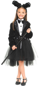 Girls Deluxe Tuxedo Bunny Fancy Dress Costume