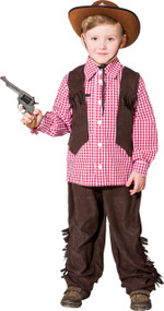 Boys Rustic Cowboy Fancy Dress Costume