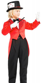 Child's Deluxe Magician Fancy Dress Costume