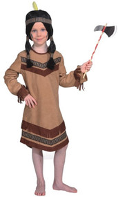 Girls American Indian Fancy Dress Costume