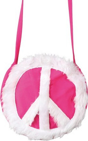 Adults Pink Hippie Shoulder Bag