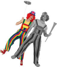 Ladies Rainbow Clown Fancy Dress Dungarees