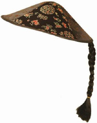 Adults Chinese Black Hat With Plait