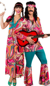 Couples Festival Hippie Fancy Dress Costume