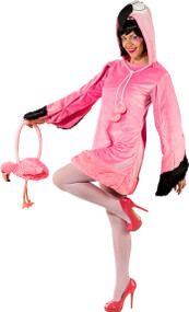 Ladies Flirty Flamingo Fancy Dress Costume