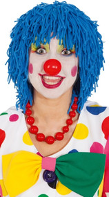 Adults Blue Mop Clown Wig