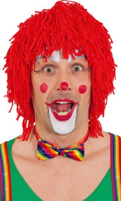 Adults Red Mop Clown Wig