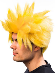 Men's Yellow Spiked Wig