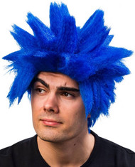 Men's Blue Spiked Wig