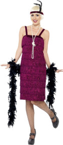 Ladies 1920's Jazzy Flapper Fancy Dress Costume