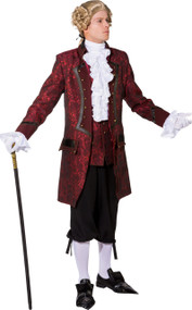 Men's Red Steampunk Coat