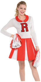 Ladies 1950s Shy Cheerleader Fancy Dress Costume