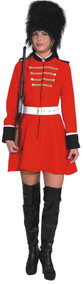 Ladies Ceremonial Busby Fancy Dress Costume