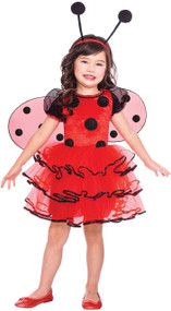 Girls Ladybug Fancy Dress Costume