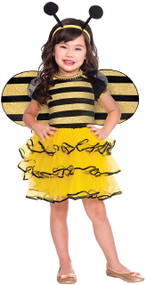 Girls Little Honey Bee Fancy Dress Costume