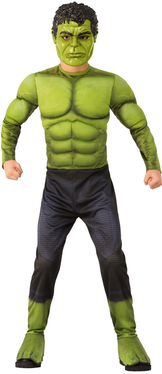 4b50c4d18 Boys Deluxe Hulk Fancy Dress Costume. Previous. Image 1