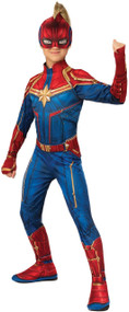 Girls Classic Captain Marvel Hero Fancy Dress Costume