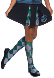 Girls Slytherin House Fancy Dress Skirt