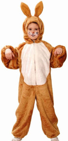 Childs Brown Easter Bunny Fancy Dress Costume