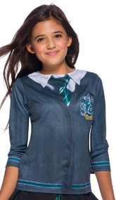 Girls Slytherin House Fancy Dress Top