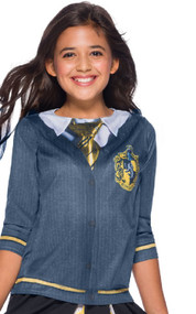 Girls Hufflepuff House Fancy Dress Top