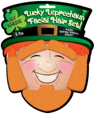 Adults Lucky Leprechaun Facial Hair Set