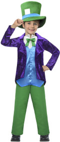 Boys Velvet Hatter Fancy Dress Costume