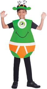 Child's Alien In Pants Fancy Dress Costume