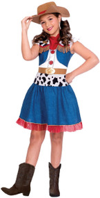 Girls Cartoon Cowgirl Fancy Dress Costume