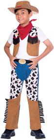Boys Cartoon Cowboy Fancy Dress Costume