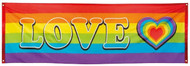 Large Rainbow Love Banner