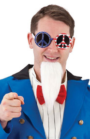 Adult USA Peace Sign Glasses