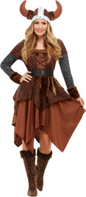 Ladies Viking Queen Fancy Dress Costume