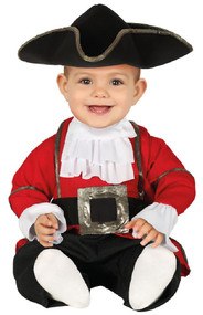 Baby Captain Pirate Fancy Dress Costume