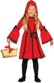 Girls Traditional Red Riding Hood Fancy Dress Costume