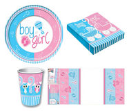 Complete Gender Reveal Tableware Set