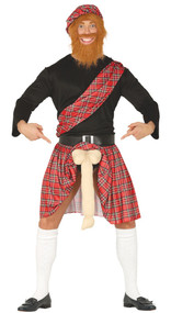 Mens Flashing Scotsman Fancy Dress Outfit