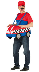 Mens Go Kart Fancy Dress Costume