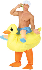 Adult Inflatable Rubber Duck Fancy Dress Costume