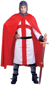Men's English Knight Fancy Dress Costume