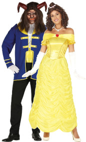 Couples Beastly Fairy Tale Fancy Dress Costume