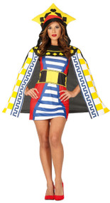 Ladies Playing Card Queen Fancy Dress Costume